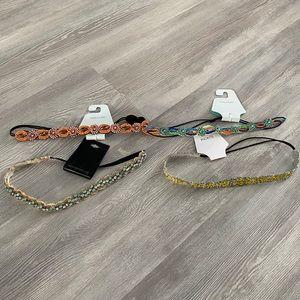 3 NWT beaded hair bands - read